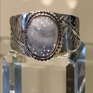 Sterling Silver Moon Stone Ring Size 71/2